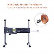 """Hismith 8,46"""" Spiralkorn-Silikon-Dildo mit KlicLok-System für Hismith Premium-Sexmaschinen, 6,69"""" Länge zum Einführen, Umfang 6,"""