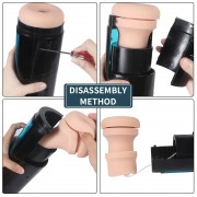 Thrusting Masturbation Cup s 9 frekvenčními vibracemi pro Hismith Premium Sex Machine se systémem KlicLok