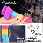 Realistischer Dildo mit Saugnapf, Hismith-Regenbogen-Dildo aus weichem Silikon, klassische Dildos für Frauen und Männer