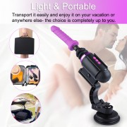 Hismith Capsule - Ruční prémiový sexuální strojek se systémem KlicLok - Mini sex stroj s ovládáním aplikace s cestovní taškou